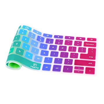 """Keyboard Cover Compatible Acer 11 6"""" C740 C720 C720P Chromebook/Acer  Chromebook 11 6 CB3-111 /Acer 13 3 Chromebook C810 CB5-311 (Rainbow)"""