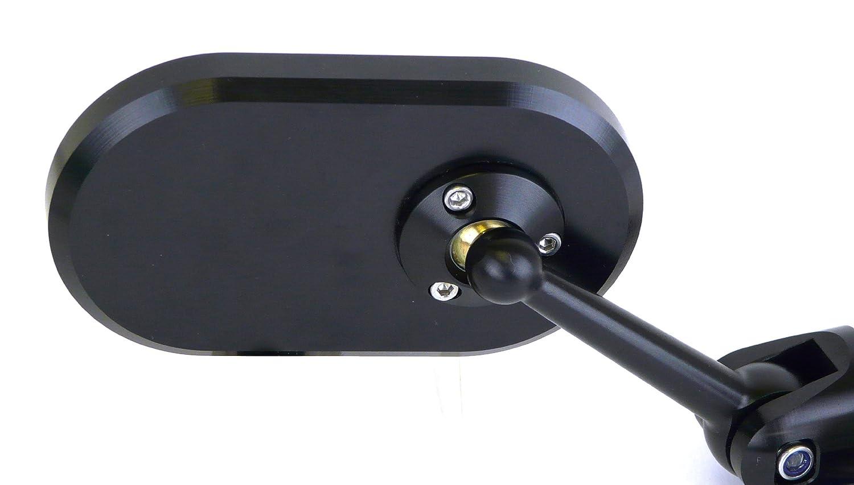 Black Streetfighter Adjustable Oblong Bar End Mirror