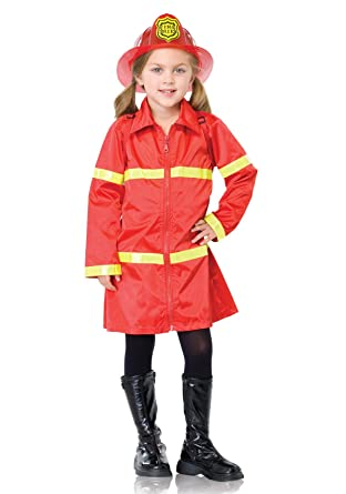 Leg Avenue Disfraz infantil Bombero rojo/amarillo medium: Amazon ...