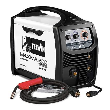Telwin Elements Maxima 200 Multi Proceso synergic – Gas Soldador Mig/Mag Wig MMA Relleno