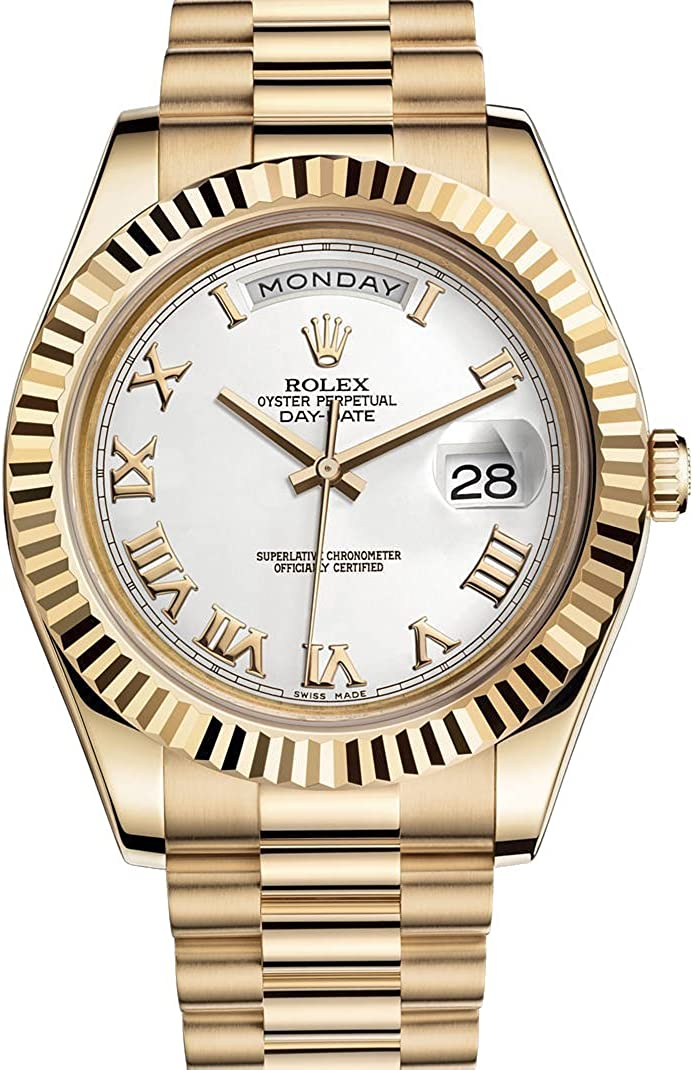Amazon Com Rolex Day Date Ii 2 President Yellow Gold Watch 218238 Watches