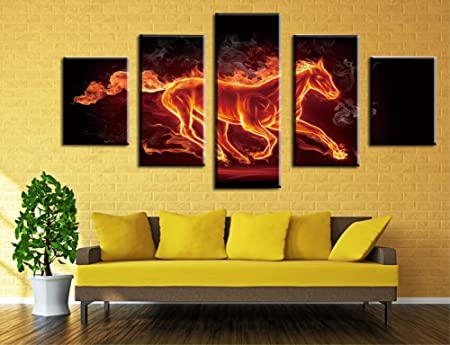 Wowdecor Wall Art 5 Pieces Canvas Painting Prints Multiple Pictures ...