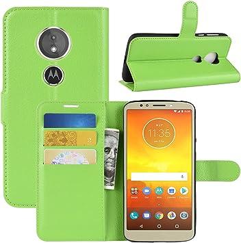 HualuBro Funda Moto G6 Play, Premium PU Cuero Leather Billetera Wallet Carcasa Flip Case Cover para Motorola Moto G6 Play Smartphone (Verde): Amazon.es: Electrónica