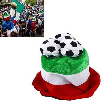 43006ecd7dd LUOEM Football Hat Party Headgear Cap Fans Cheer Leading Champ World  Football Game Celebration Hat Patriotic