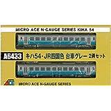 マイクロエース Nゲージ キハ54・JR四国色・台車グレー 2両セット A6433 鉄道模型 ディーゼルカー