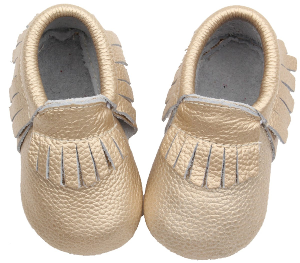Posh Baby Shoes: Genuine Leather, Hand Made, Durable, Slip-on Baby Moccasins. A Great Gift for Newborns, Infants, and Toddlers. (18-24 Months (5.3 in), Metallic Gold) by Posh Baby Shoes