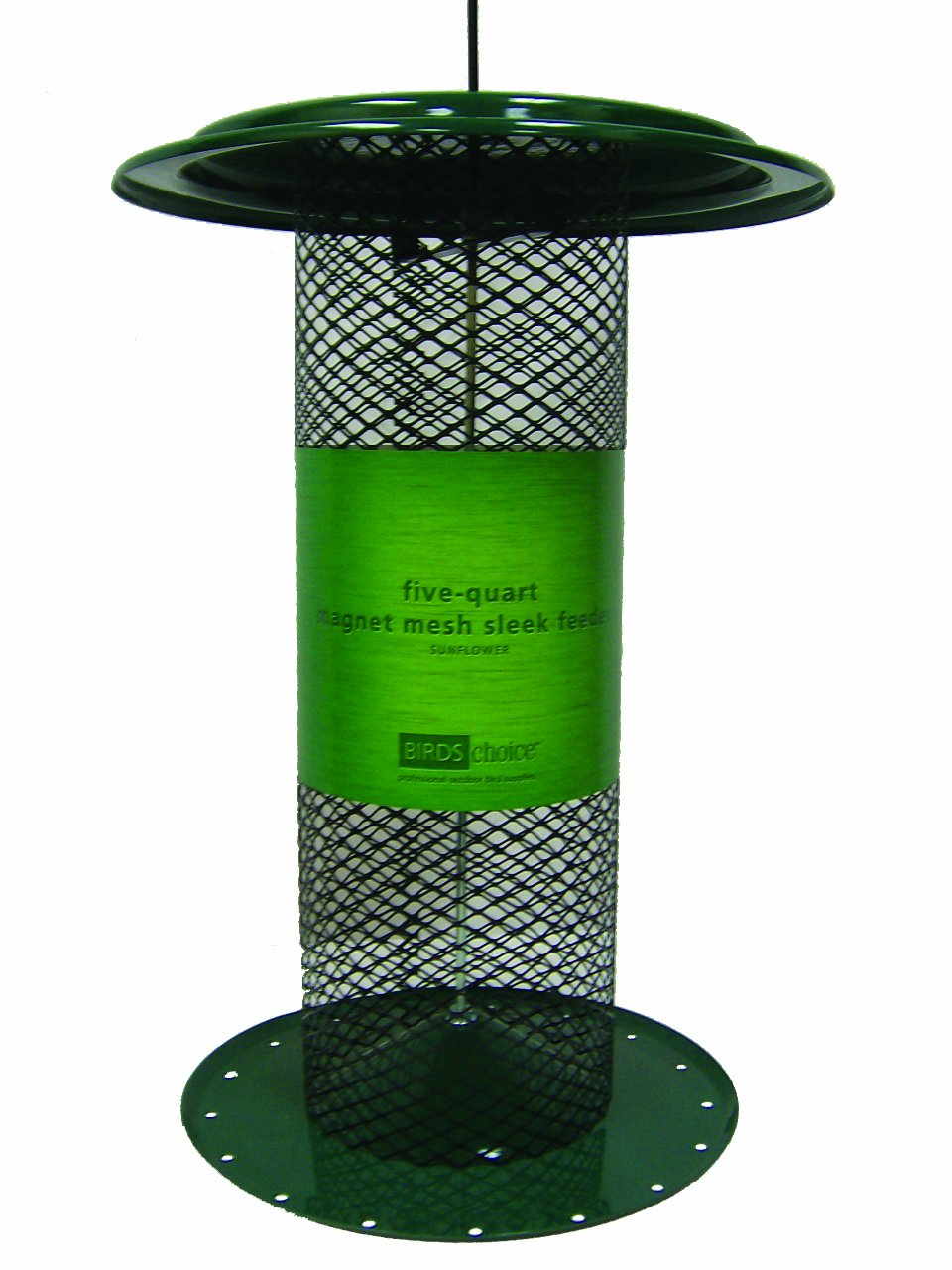 Birds Choice 5 qt. Tall Magnet Mesh Black Oil Sunflower Feeder-Green