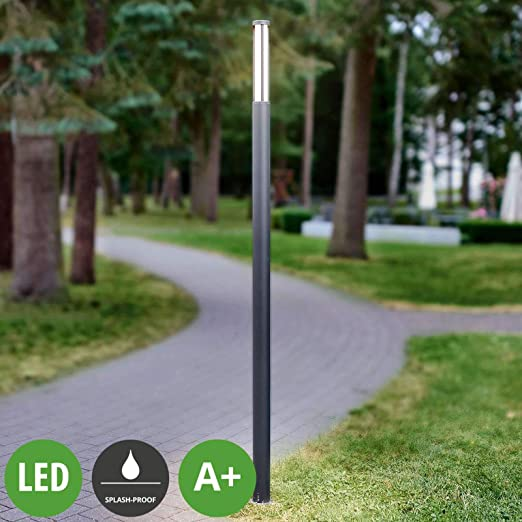 LED Lámpara para exterior Sidny (Moderno) en Negro hecho de Aluminio (1 llama, A+) de Lucande | iluminación de senderos, baliza, iluminación de senderos, farola: Amazon.es: Iluminación