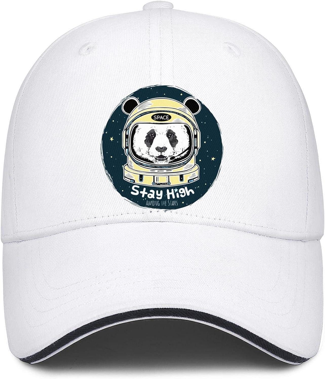 Astronaut Panda Space Unisex Baseball Cap Lightweight Sport Baseball Hats Adjustable Trucker Caps Dad-Hat
