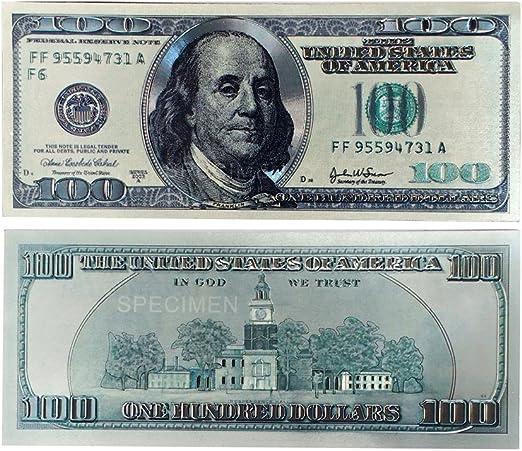 3 Pcs New Hundred Dollar $100 United States Bill Money Fridge Magnets