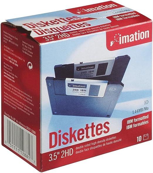Imation 12881 - Caja de 10 disquetes de Alta Densidad 3.5 ...