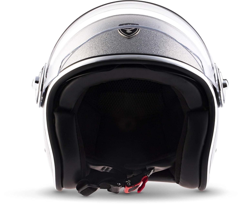"61-62cm SOXON/® SP-888 Pro /""Urban Bronze/"" /· Jet-Helm /· Motorrad-Helm Bobber /· ECE Sonnenvisier Leather-Design Schnellverschluss SlimShell Tasche XL"