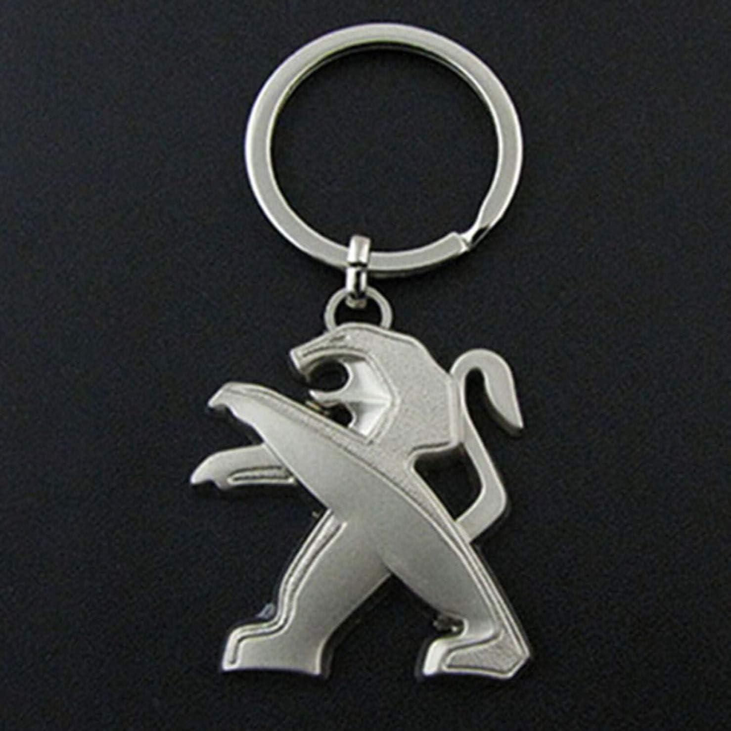 djryj Irr/éprochable 3D Creux S/érie Voiture Logo Porte-Cl/és Porte-Cl/és Bague Porte-Cl/és Cl/é Gousset pour Peugeot Grande Taille