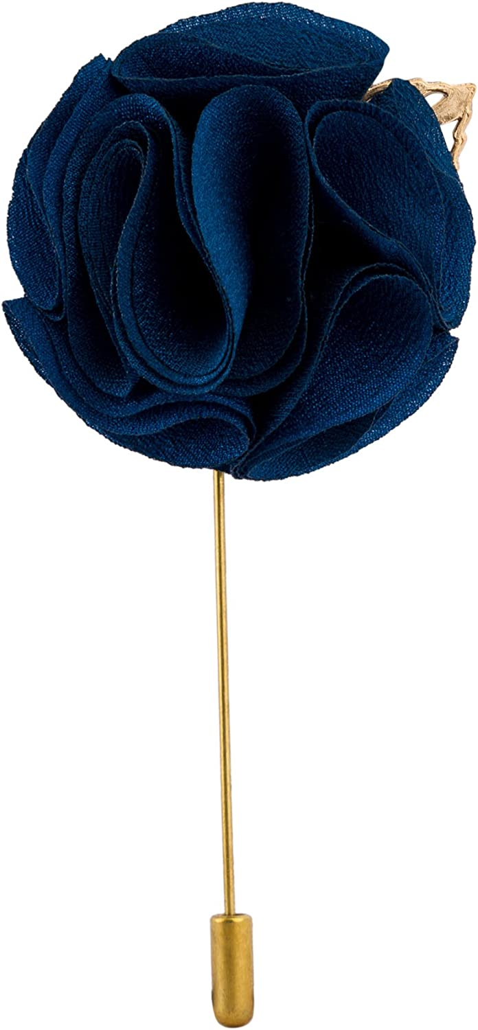 Knighthood Men's Handmade Tuxedo Flower Ball with Gold Leaf Lapel Pin/Brooch Multi-Colour