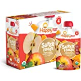 Happy Tot Organic Stage 4 Super Foods Apples & Butternut Squash + Super Chia, 4.22 Ounce Pouch (Pack of 16) (Packaging…