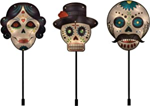 Spooky Town PRODUCTWORKS 46224 Day of The Dead 3 Piece Set Pathway Marker