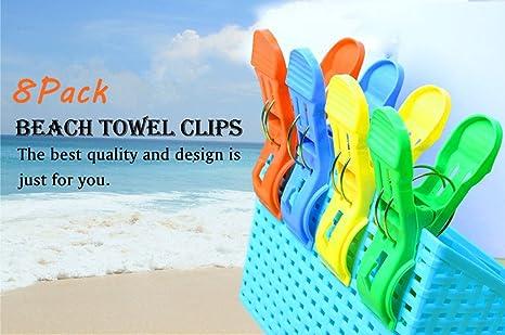Broches para toalla de playa, 8 unidades de 11,9cm kyerivs,
