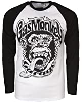 Gas Monkey Garage Mens Official 04 Baseball Long Sleeve T Shirt Black