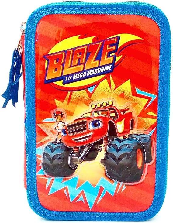 BLAZE - ESTUCHE 3 ZIP - CARIOCA interna) - 14 colores pastel, 14 rotuladores, regla y equipo: Amazon.es: Juguetes y juegos