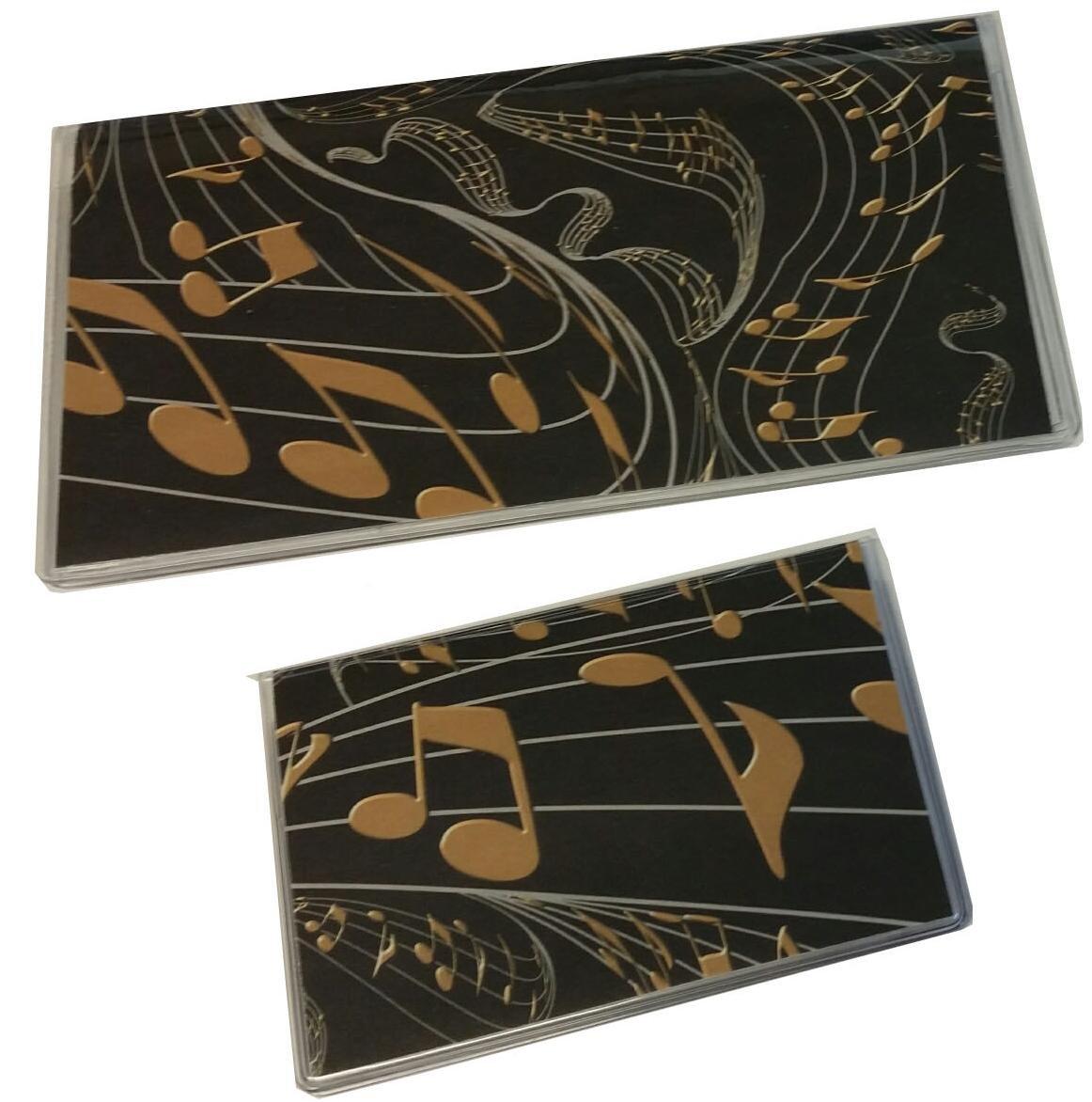 Black & Gold Music Set 2018-2019 Planner and Debit Card Holder with Register
