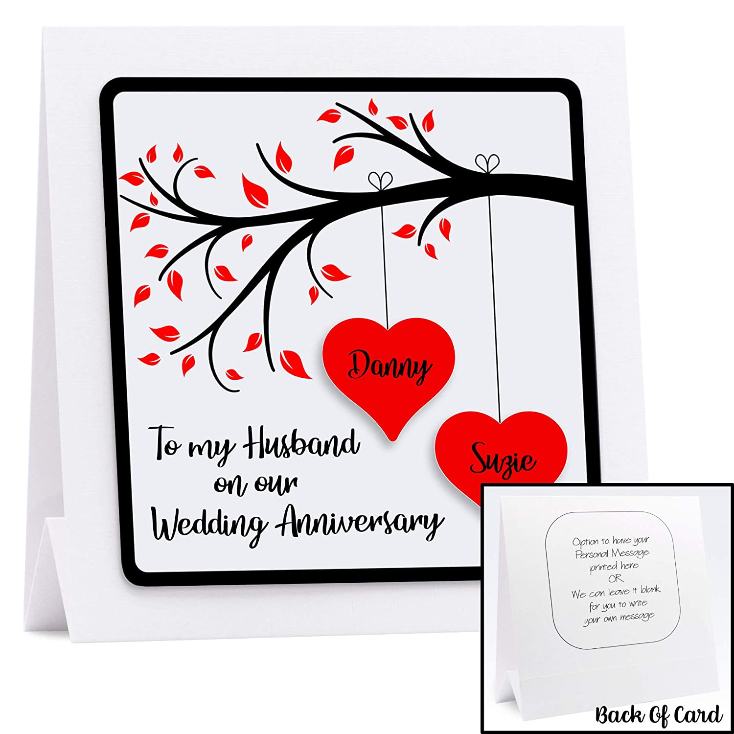 Personalised Anniversary Card For Husband Wife Couples First