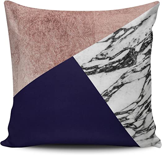 Rose Gold Cover Square Pillowcase Home Sofa Decor Cusion Back Solid Pillow Case