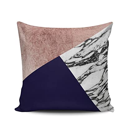 Amazon Com Fanaing White Gray Modern Marble Rose Gold Navy Blue
