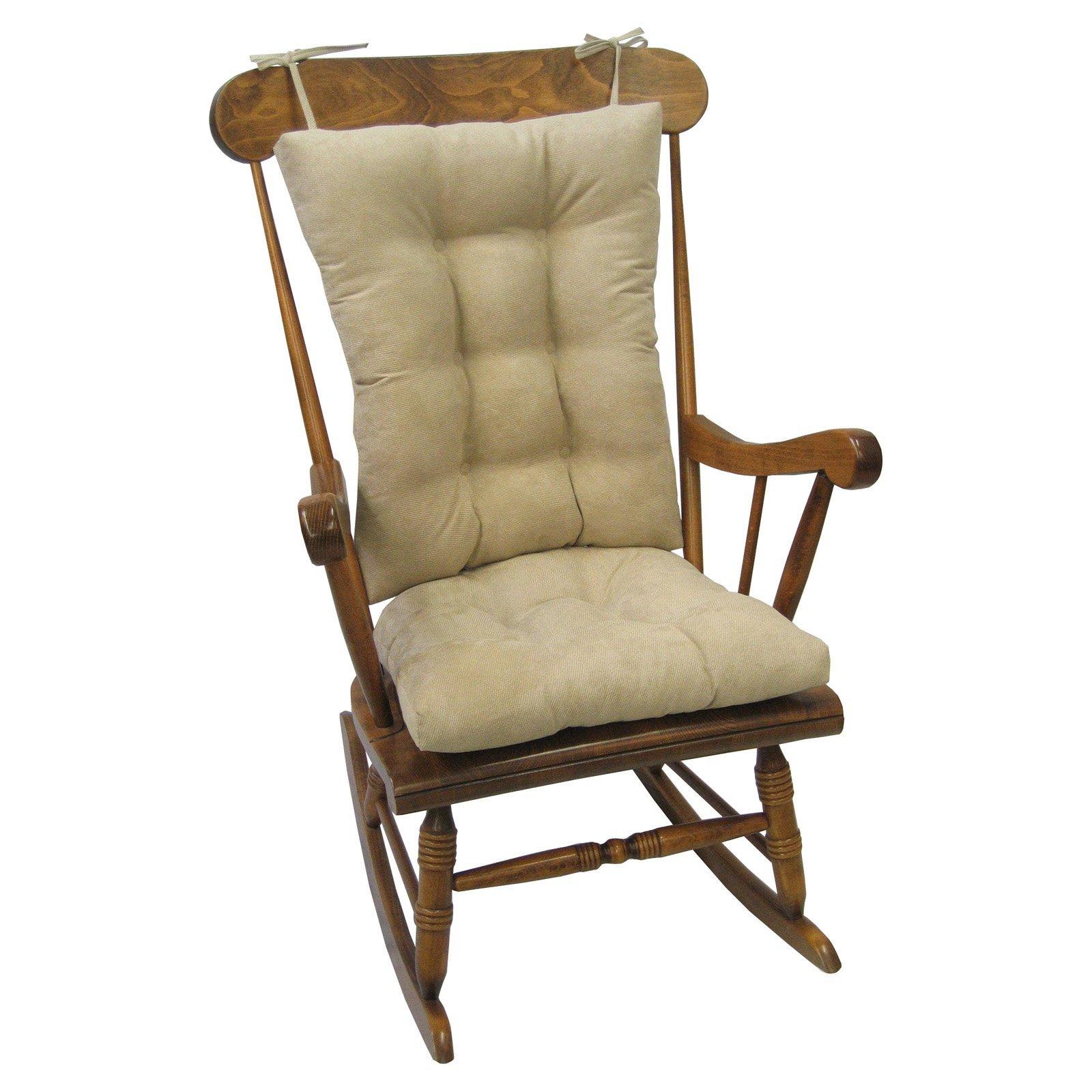 Gripper Rocking Chair Cushion Gripper Twillo Jumbo in Stone