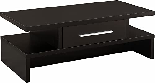 Ave Six AVE SIX OSP Furniture Merge Square Coffee Table, 30 , Black