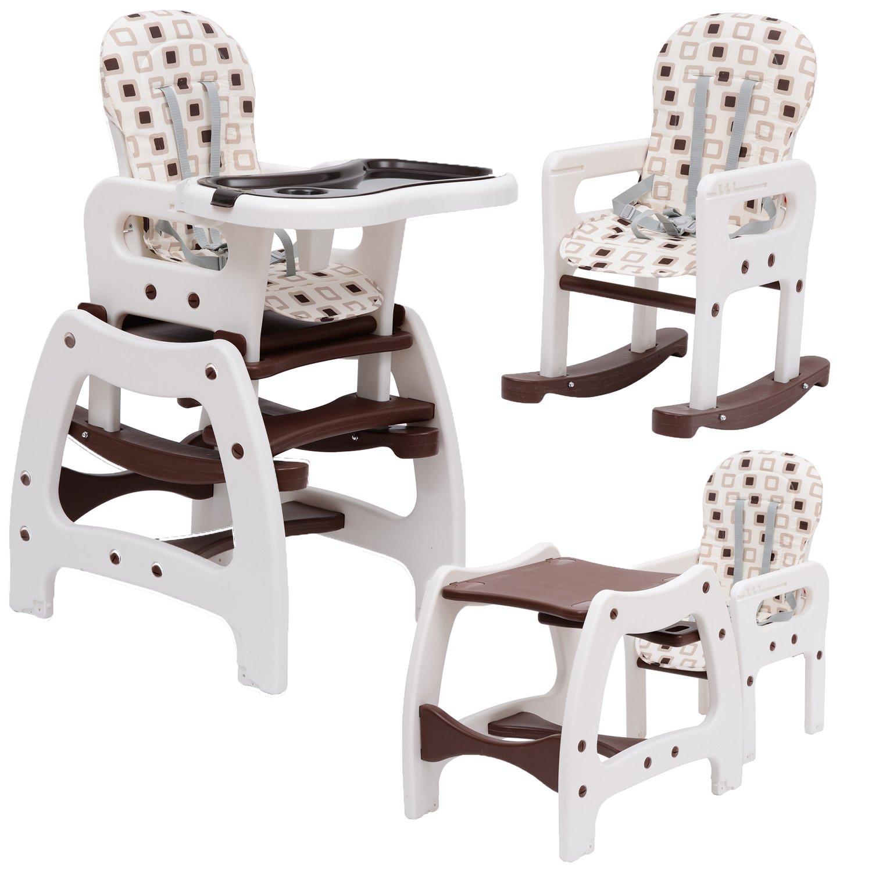 Outsunny Seggiolone per bimbi multifunzione 3 in 1 tavolino sedia da dondolo caff¨ Amazon Casa e cucina