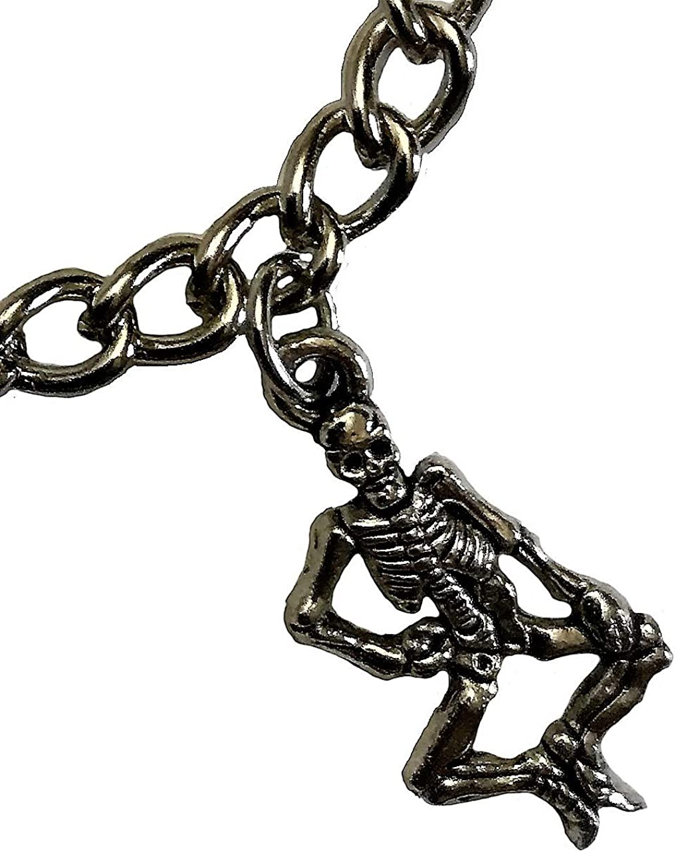 D\u00eda de los Muertos Silver Bracelet