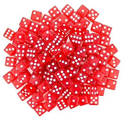 Brybelly 100 Red Dice , 16mm, Red: Sports & Outdoors