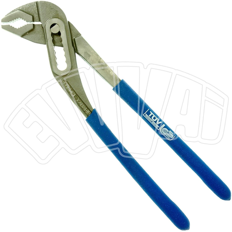 Alicates hidráulico 250 mm de acero cromo vanadio - Llave grifa ajustable: Amazon.es: Bricolaje y herramientas