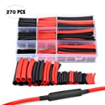 """Nilight 270 pcs 3:1 Dual Wall Adhesive Heat Shrink Tubing Kit, 6 Sizes : 1/16"""", 3/32"""", 1/8"""", 3/16"""", 1/4"""", Best Cable..."""