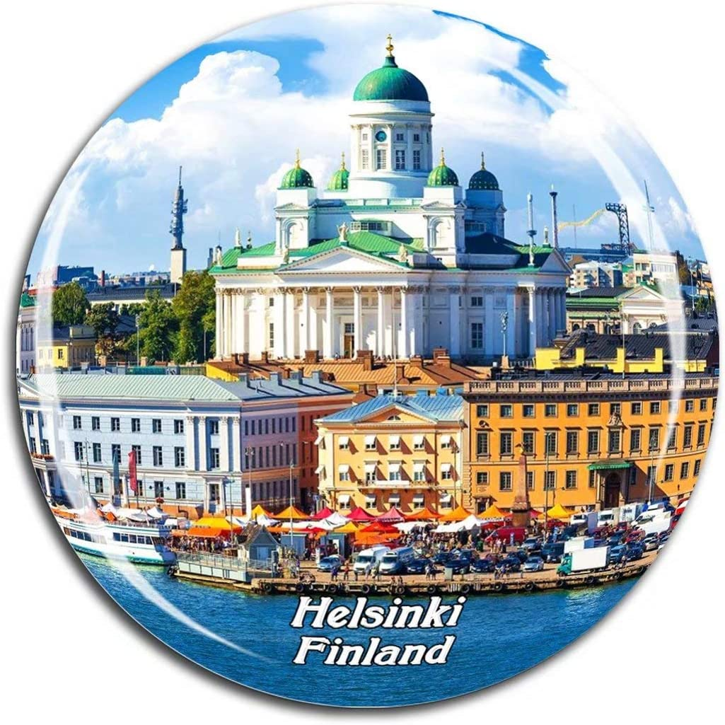 Helsinki Cathedral Finland Fridge Magnet 3D Crystal Glass Tourist City Travel Souvenir Collection Gift Strong Refrigerator Sticker