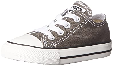 9add042a5f2 Converse Baby Chuck Taylor All Star Canvas Low Top Sneaker Charcoal 2 M US  Infant