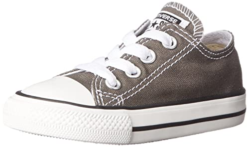 Converse Chuck Taylor All Star Toddler High Top, Scarpe per bambini, Grigio (Charcoal), 19 EU