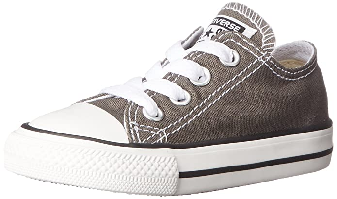 Amazon.com | Converse Baby Chuck Taylor All Star Canvas Low Top Sneaker Charcoal 2 M US Infant | Sneakers