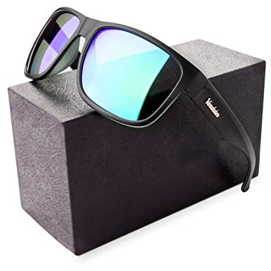 c90c47c56d2e9b Verdster Mirrored Polarized Sunglasses for Men   Women - Trendy   Stylish  Black Shades - Comes