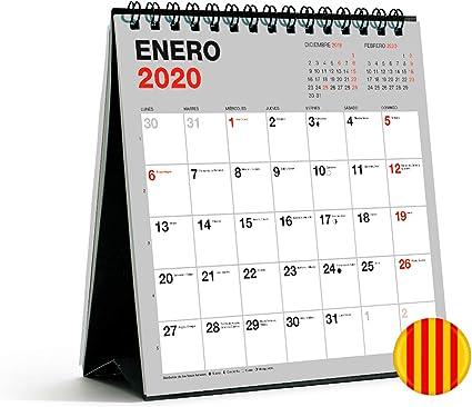 Miquelrius 28350 - Calendario de Sobremesa 140 x 150 mm para escribir Gris 2020 Básico Catalán: Amazon.es: Oficina y papelería