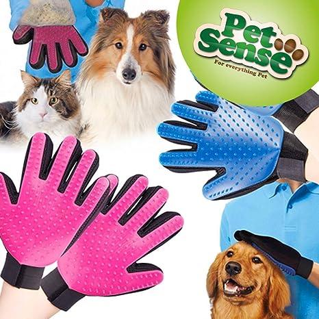 Guante para pelo de mascota, de aseo eficaz para perros, gatos, caballos,