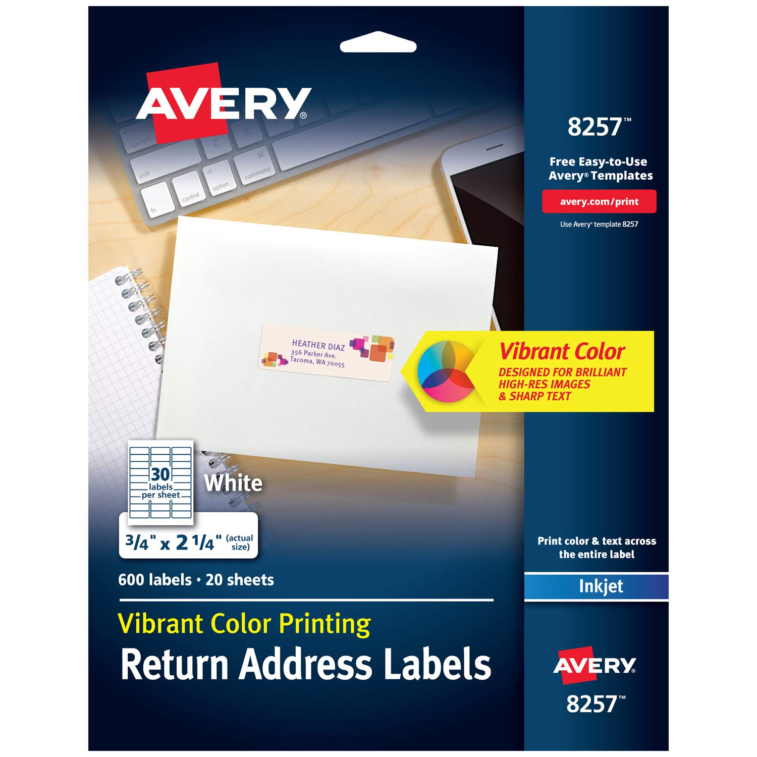 Amazon Avery Matte White Color Printing Labels For Inkjet