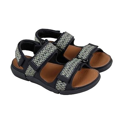 9284ae6bdf7 CLARKS Tri Sand Spark Mens Gray Leather Flip Flops Strap Sandals Shoes 8