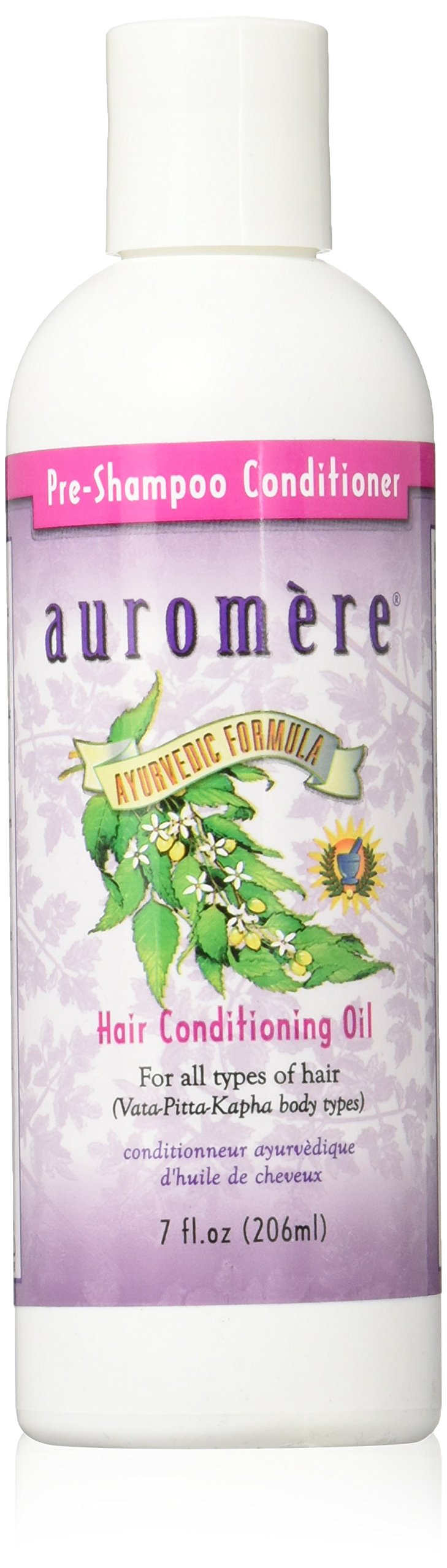 Auromere Ayurvedic Pre-Shampoo Conditioner Conditioning Oil, 7 Ounce