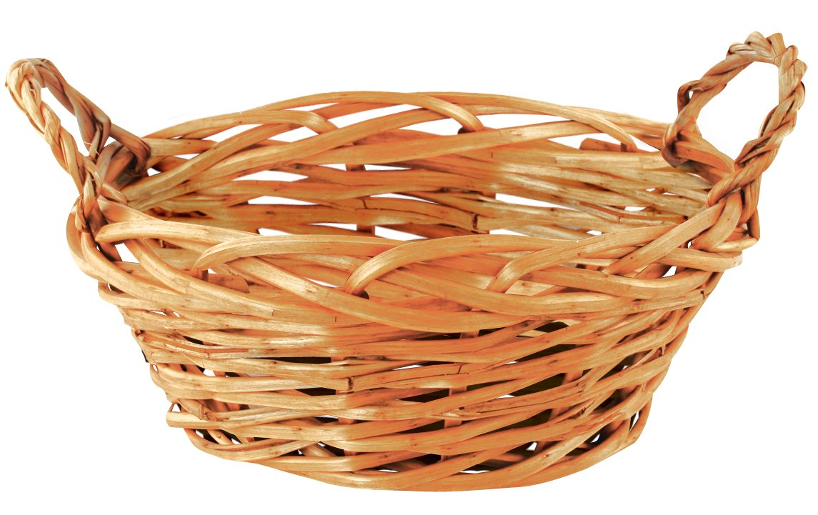 Wald Imports Brown Willow 11'' Decorative Storage Basket