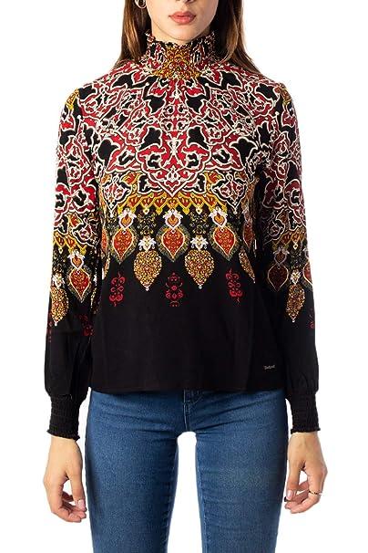 Desigual Blusa Donna MOD.19WWBW20 Nero: Amazon.it: Abbigliamento