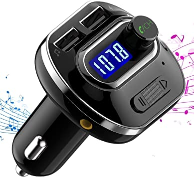 Cargador de Coche con Dual USB Puerto 5V//2.4A /& 1A Soporte USB Flash Drive y Tarjeta TF Negro Cocoda Transmisor FM Bluetooth Reproductor MP3 Coche Manos Libres Bluetooth Radio Adaptador