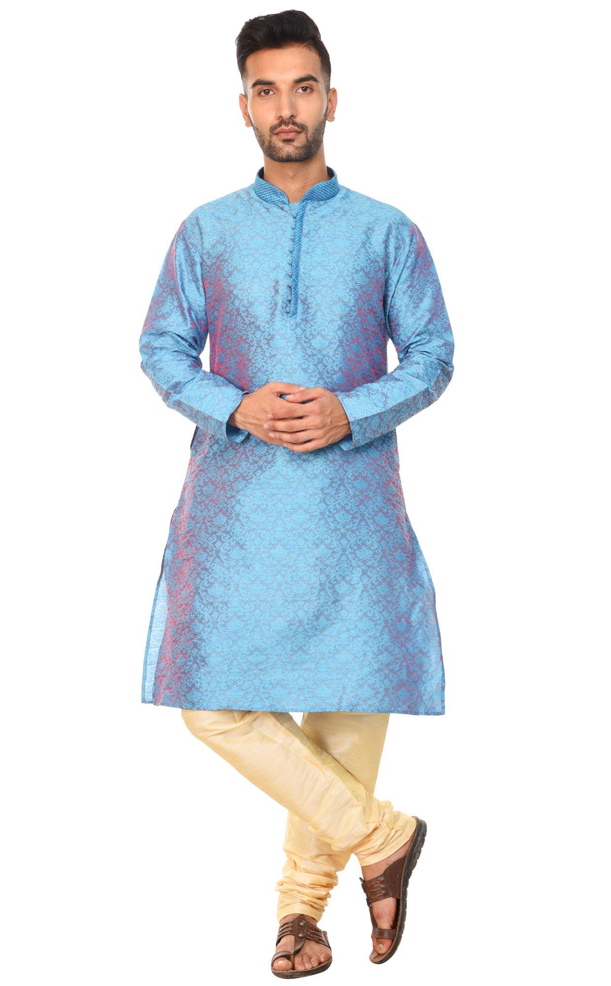 Kurta Pajama Wedding Casual Party Long Dresses Long Sleeve Shirt Summer Fashion Dress -XL