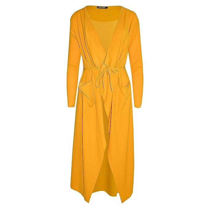 Verso Fashion - Chaqueta - Gabardina - para mujer amarillo Mostaza S/M (36