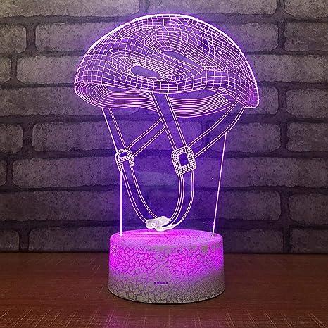 3D Lámpara óptico Illusions Luz Nocturna 7 Colores Cable USB ...